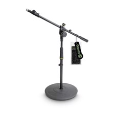 Gravity Short Microphone Stand with Round Base and 2-Point Adjustment Telescoping Boom - MS 2222 B