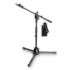 Gravity Short Microphone Stand with Folding Tripod Base and 2-Point Adjustment Telescoping Boom - MS 4222 B