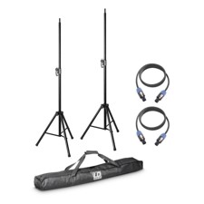 LD 2 x speaker stand with transport bag + 2 x speaker cable 5 m for DAVE 8 systems - DAVE 8 SET 2