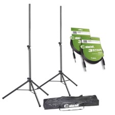 Adam Hall Set of 2 Speaker Stands with Bag and 2 Speaker Cables 6.3 mm Jack - SPS 023 SET 4
