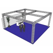 ALUTRUSS Truss set QUADLOCK 6082 square 7.71x7.71x3.5m (WxDxH)