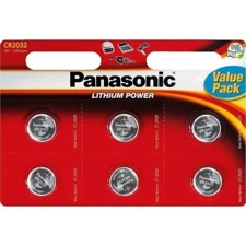 Batteri lithium (x6) - CR-2032/6 - PANASONIC