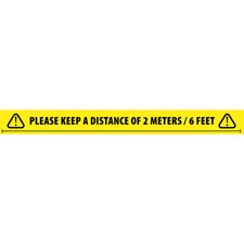 Adam Hall Accessories 58068 ENG - Social Distancing Tape 2 Meters / 6 Feet English