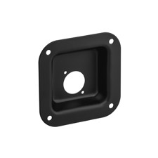Adam Hall Hardware 87081 BLK - Steel Mounting Plate for 1 x Universal D-Type Socket, black