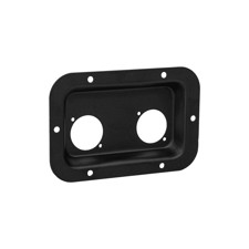 Adam Hall Hardware 87085 BLK - Steel Mounting Plate for 2 x powerCON TRUE1 Sockets, black