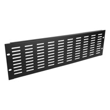 "Adam Hall 19"" Parts 87223 VH - 19"" U-Shaped Ventilation Panel with Vertical Slots, 3 U"
