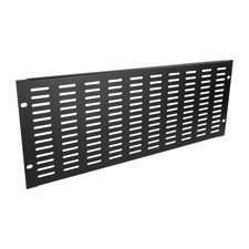 "Adam Hall 19"" Parts 87224 VH - 19"" U-Shaped Ventilation Panel with Vertical Slots, 4 U"
