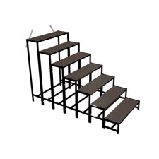 Bütec Stairs, steel, 7-step to 160 cm height, + screen printing plate - B500721003020