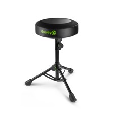 Gravity FD SEAT 1 - Round Musicians Stool Foldable, Adjustable Height