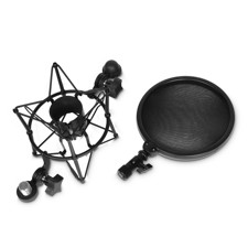 Adam Hall Stands DSM 400 - Microphone Shock Mount with Pop Filter