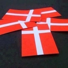 Confetti Dannebrogs Flag 30x48 mm