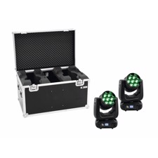 EUROLITE Set 2x LED TMH-X7 Wash Zoom + Case