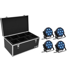 EUROLITE Set 4x LED SLS- QCL Floor + Case TDV-1