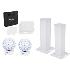 EUROLITE Set 2x Stage Stand 100cm + 2x LED B-40 HCL Beam Effect white