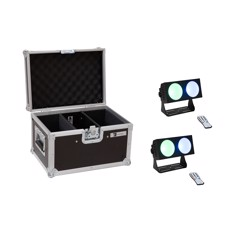 EUROLITE Set 2x LED CBB-2 COB RGB Bar + Case