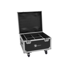 ROADINGER Flightcase 4x AKKU IP PAR 7 QCL WDMX with charging function