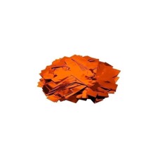 TCM FX Metallisk konfetti rektangulær 55x18mm, orange, 1kg