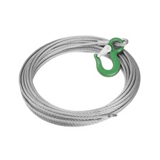 ACCESSORY Tower Steelrope 8mm  w. clamp