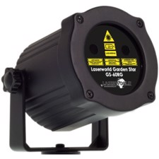 GARDEN STAR MINI 60 Watt RØD/GRØN Laser - Laserworld GS-60RG