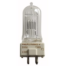 Halogen Pære, 500W, A1/244-7389, GY9,5, 240V - PHILIPS / GE