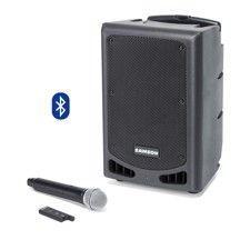 Samson XP208W Portable PA System, Rechargeable Portable PA with Handheld Wireless System and Bluetooth