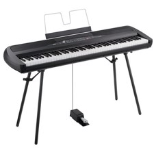 Korg SP280BK Black Digital Piano - Beautiful piano sound, with a stylish design that matches your decor