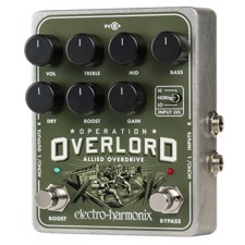 Electro Harmonix Operation Overlord Stereo-Overdrive - Multi-instrument capable, stereo overdrive/distortion.