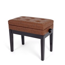Profile HY-PJ007-RW Piano Bench with lid - Adjustable piano bench with storage under the seat in rosewood finish.