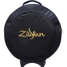 "Rugged and streamlined 22"" rolling cymbal bag features a 16"" expandable HiHat pocket for increased cymbal capacity. - Zildjian ZCB22R Rolling Cymbal Bag 22"""