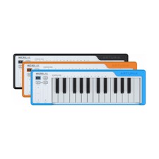 ARTURIA MICROLAB-ORANGE USB Controller keyboard. - The go-anywhere 25-key controller keyboard with high-quality mini-keys, 2 touch strips, with free software instruments and recording software.