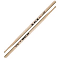 Vic Firth FS55A American Concept Freestyle 55A - 55A model with extra-long length and extra long taper, expanding the drummer's fulcrum area for a wide array of responses and feels..