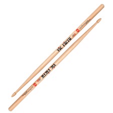 Vic Firth MJC2 Modern Jazz® 2 - Slightly thinner than the 5A with an extra long taper for unbelievable response and playability. Elongated arrow tip provides a broad surface area, perfect for pulling