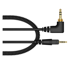 Pioneer HC-CA0701-K 1.2 m coiled cable for the HDJ-S7-K headphones (black)