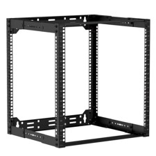 "Caymon 19"" rack åben ramme, 300-450 mm dyb, 12 unit"