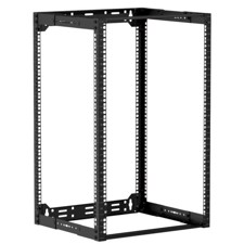 "Caymon 19"" rack åben ramme, 300-450 mm dyb, 18 unit"