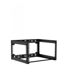 "Caymon 19"" rack åben ramme, 450 mm dyb, 6 unit"